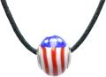 バレンティナビーズ&925シルバー アメリカカラー ネックレス付き