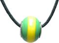 バレンティナビーズ&925シルバー ブラジルカラー ネックレス付き