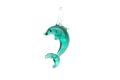 ムラーノグラス イルカのペンダント エメラルドグリーン ネックレス付き