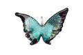 ムラーノグラス 蝶のペンダント エメラルドグリーン ネックレス付き