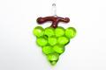 ムラーノグラス 葡萄のペンダント グリーン ネックレス付き