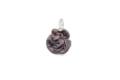 ムラーノグラス バラのペンダント アンティークパープル ネックレス付き