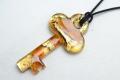 ムラーノグラスペンダント キーペンダントトップ55mm ゴールド&ゴールド ネックレス付き