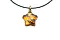 ムラーノグラスペンダント 星型ペンダントトップ ゴールドカラー&ゴールド ネックレス付き