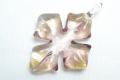 ムラーノグラス クロスペンダント ピンクパープル&ゴールド ネックレス付き