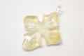 ムラーノグラス クロスペンダント ホワイト&ゴールド ネックレス付き