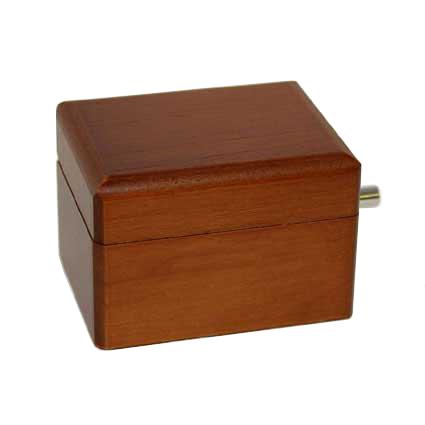 木製手廻しオルゴール【ブラウン】