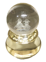 3Dレーザーボールオルゴール【ウェディング】DY-3494G(H