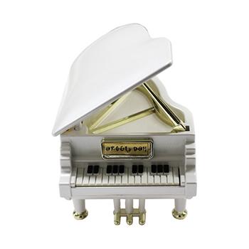 ピアノ型オルゴール【ホワイト】PS-601