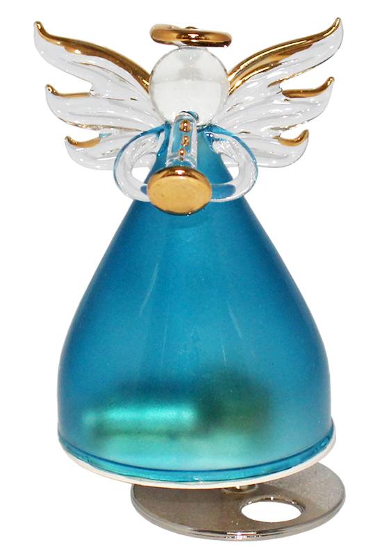 ガラスの天使オルゴール 楽器持ち【ブルー】