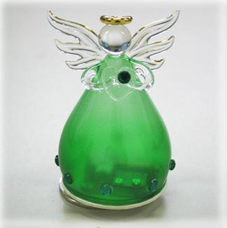 YA460E 誕生石カラー 天使オルゴール【5月・エメラルド】♪アメイジンググレイス