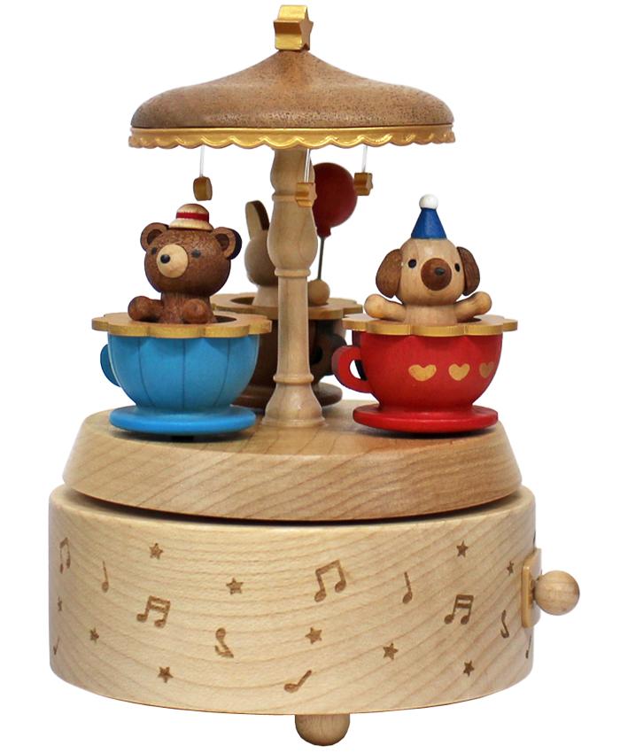 H9123 木製オルゴール【コーヒーカップ】