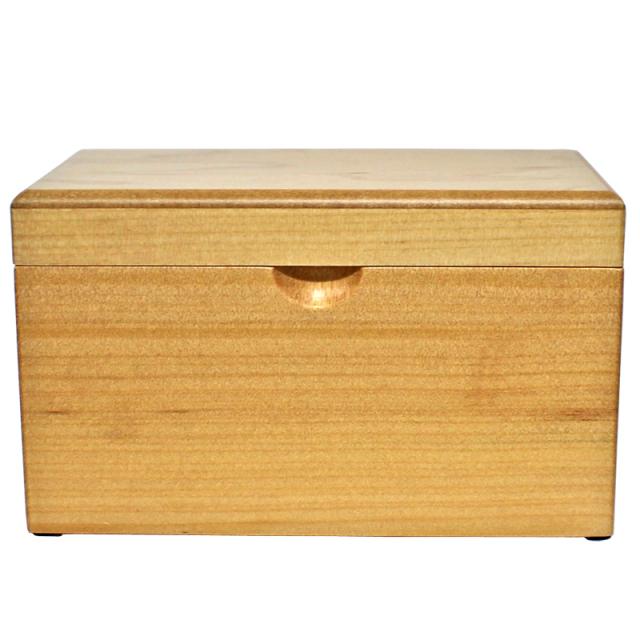 木製BOXオルゴール 大【ナチュラル】
