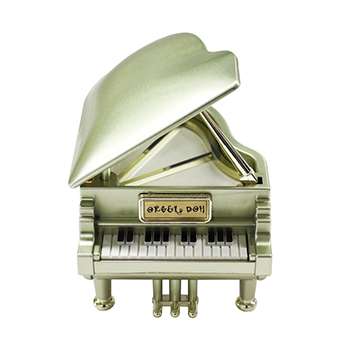 ピアノ型オルゴール【シャンパンゴールド】PS-601