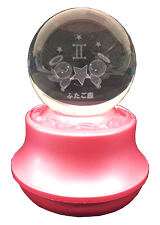 MA27-F 星座3Dレーザーボールオルゴール【ふたご座】