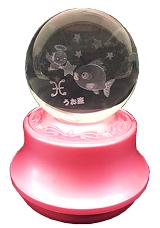 MA27-UO 星座3Dレーザーボールオルゴール【うお座】