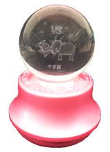 MA27-Y 星座3Dレーザーボールオルゴール【やぎ座】