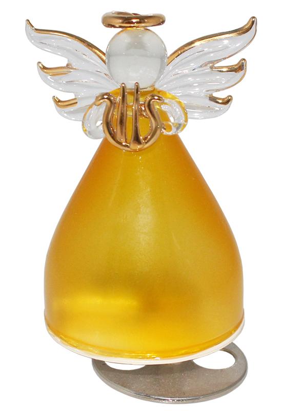 ガラスの天使オルゴール 楽器持ち【イエロー】