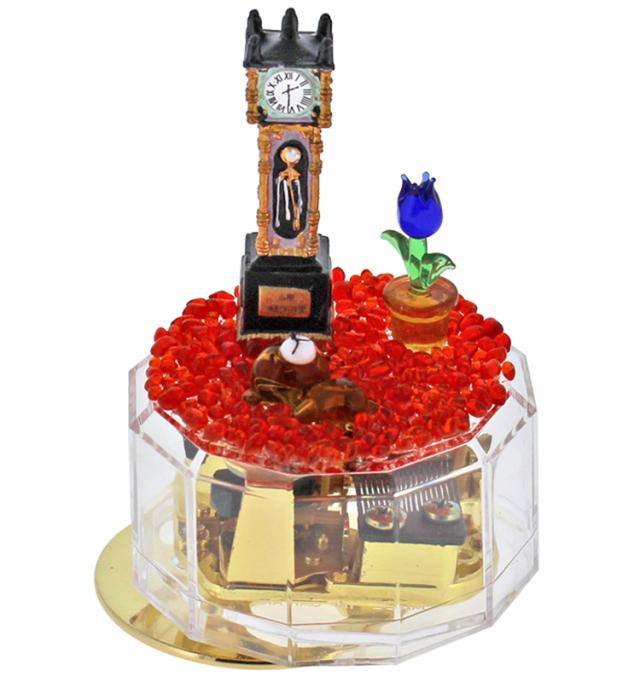 ☆数量限定☆フィギュアが選べるクリアケース手作りオルゴールキット【蒸気時計と動物】