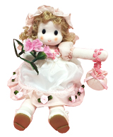 GA-160A 人形オルゴール ガーデンローズ【ピンク】