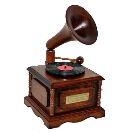 木製アンティーク【蓄音機】B620