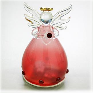 YA460A 誕生石カラー 天使オルゴール【1月・ガーネット】♪星に願いを