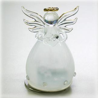 YA460D 誕生石カラー 天使オルゴール【4月・ダイヤモンド】♪アメイジンググレイス