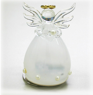 YA460F 誕生石カラー 天使オルゴール【6月・パール】♪アメイジンググレイス