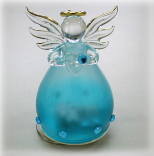 YA460L 誕生石カラー 天使オルゴール【12月・ターコイズ】♪ノクターン