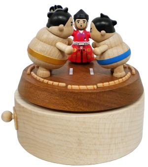 H9116 木製オルゴール【すもう】