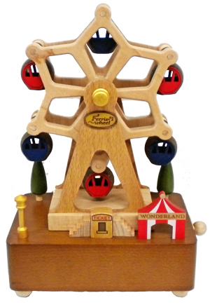 H9107 木製オルゴール【観覧車】