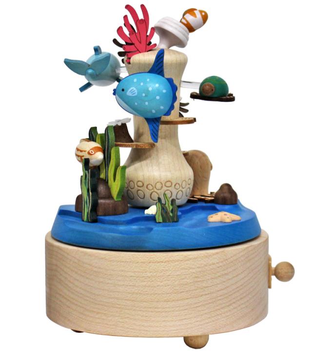 H9119 木製オルゴール【サンゴ礁】