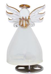 ガラスの天使オルゴール 楽器持ち【ホワイト】