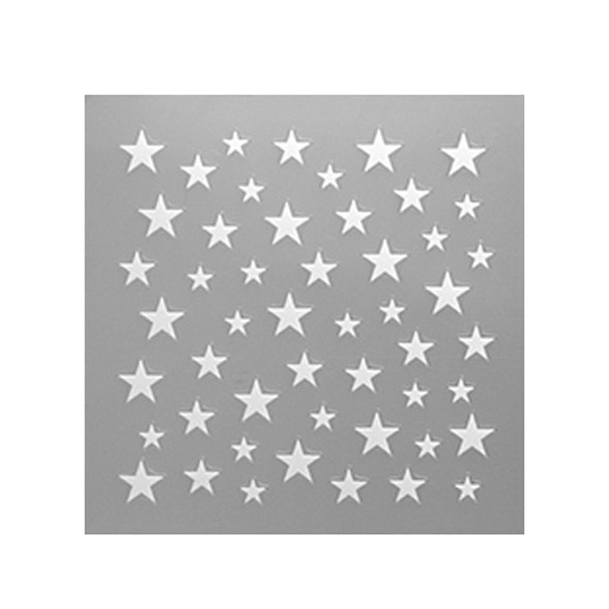shareydva (シャレドワ) ネイルシール スター ホワイト 星 冬ネイル デザイン セルフネイル マニキュア 64799