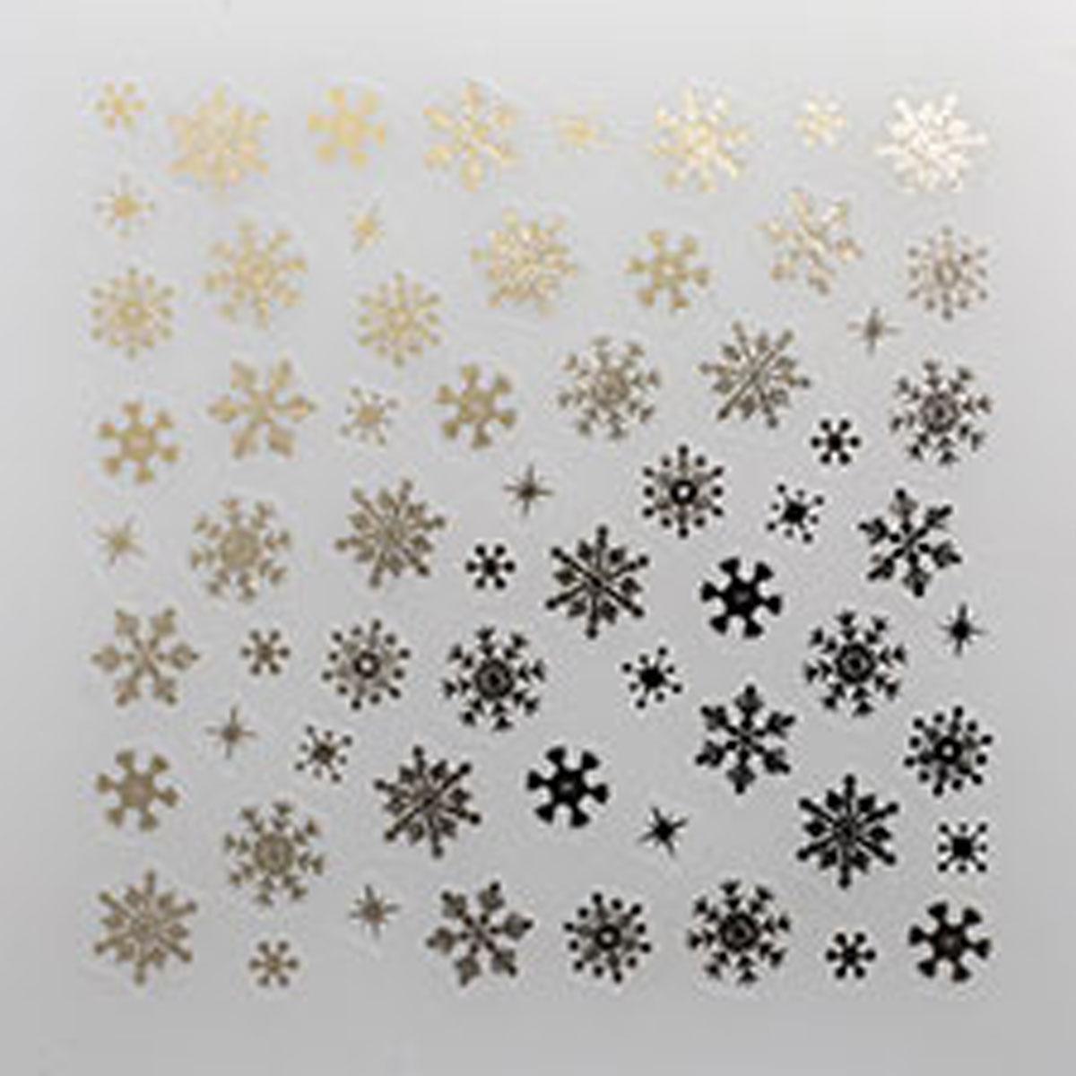 shareydva (シャレドワ) ネイルシール スノークリスタル シルバー 雪 結晶 冬ネイル セルフネイル マニキュア 87840