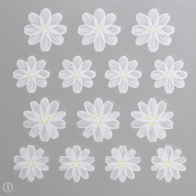 【SHAREYDVA98652】 ネイルシール フレンチフラワー ネイルシール フレンチフラワー ペディキュア 春ネイル 花柄