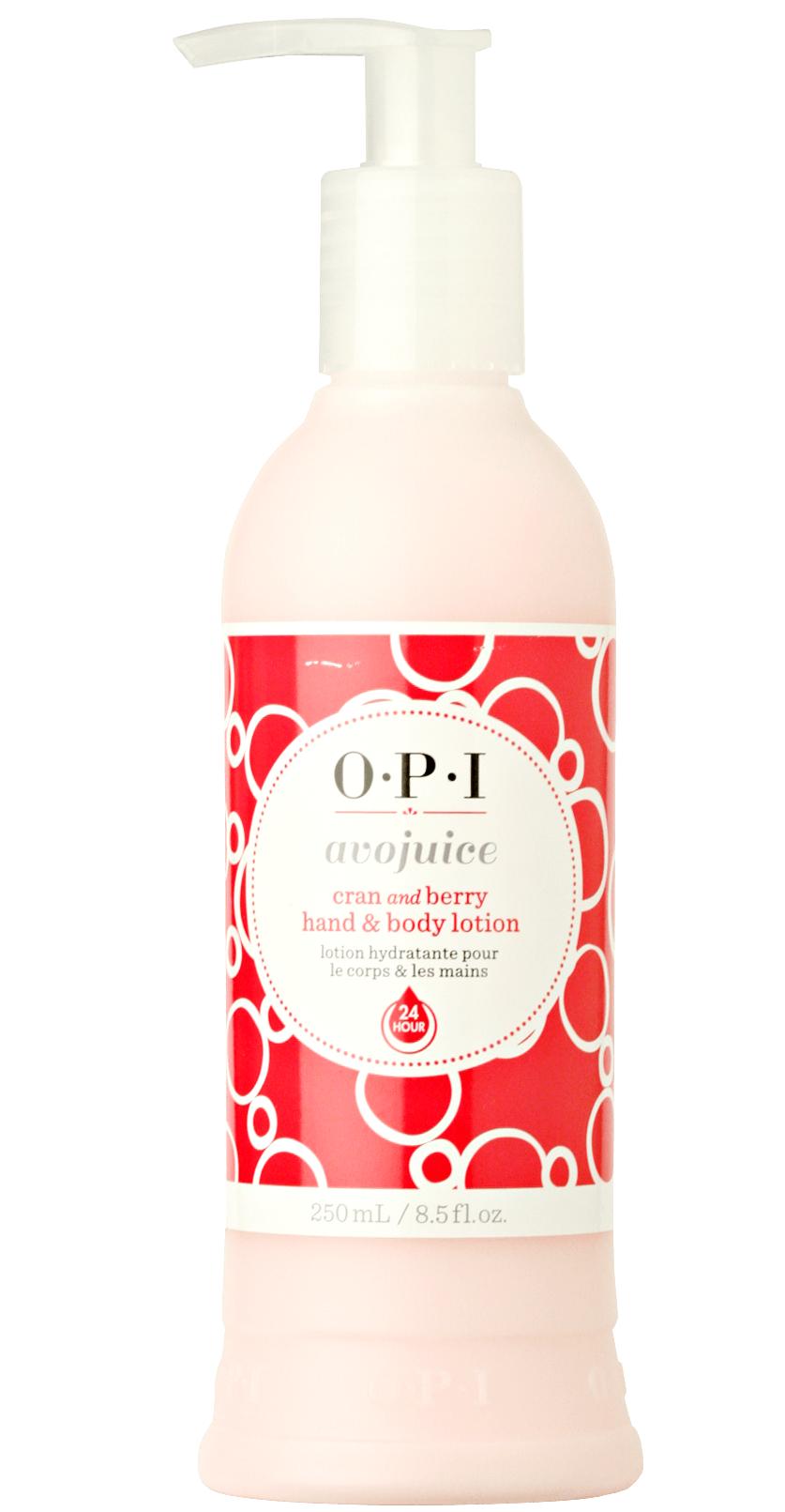 【レターパックのみ送料無料】OPI(オーピーアイ) アボジュース ハンド&ボディローション クラン&ベリー250ml