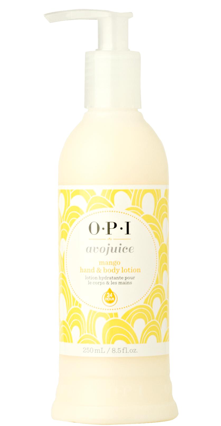 【レターパックのみ送料無料】OPI(オーピーアイ) アボジュース ハンド&ボディローション マンゴ250ml