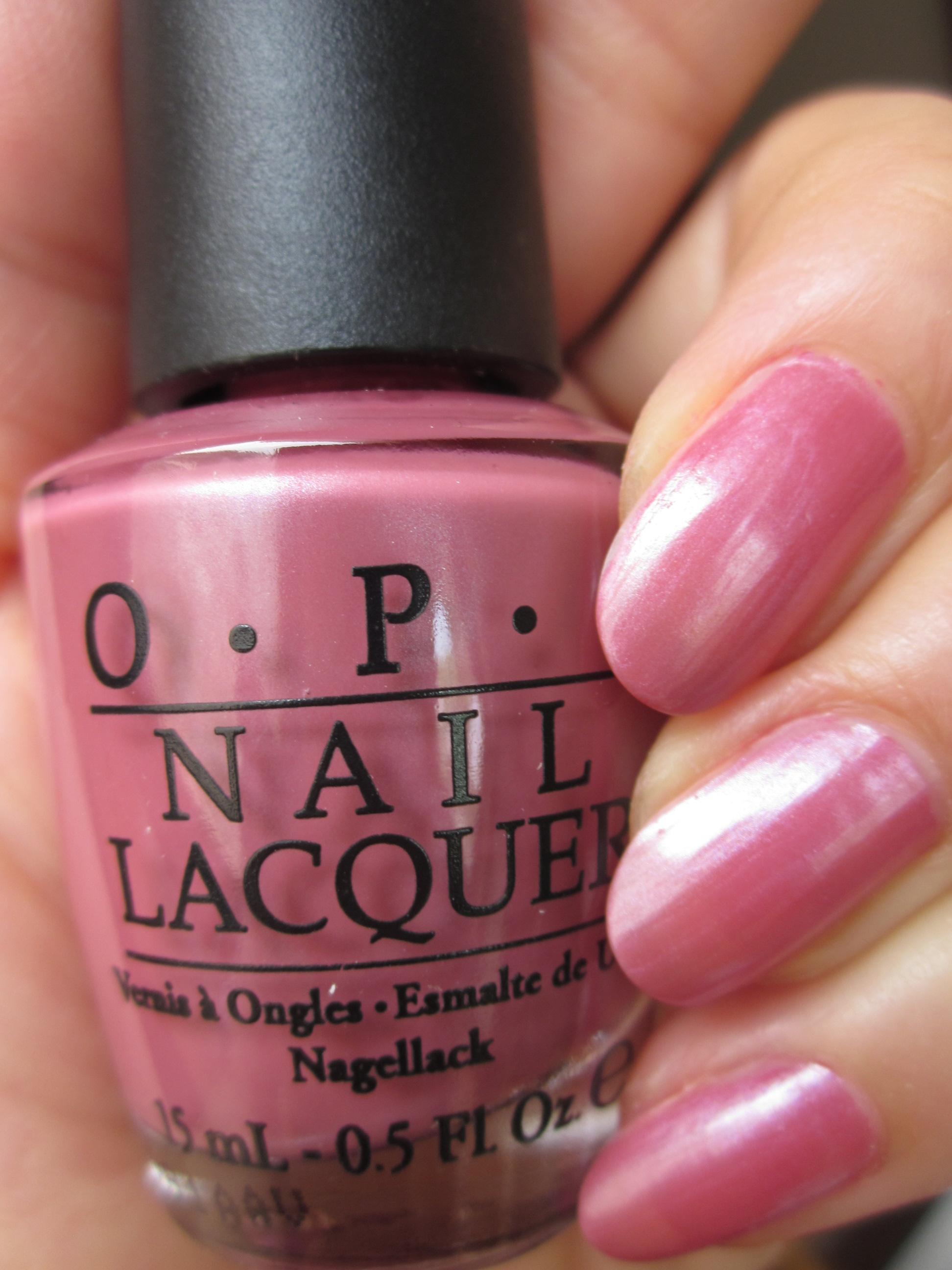 OPI(オーピーアイ) NL S45 Not So Bora-Bora- Pink(ノット ソー ボラボライング ピンク) opi ネイル ネイルカラー ネイルポリッシュ マニキュア ラメ パール