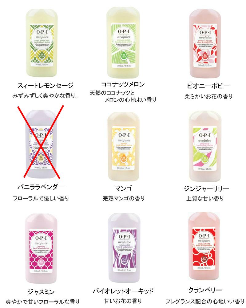 OPI オーピーアイ  アボジュース ハンド&ボディローション お好きな香りを2つ選べる!