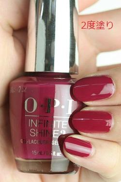 OPI INFINITE SHINE(インフィニット シャイン) ISL B78 Miami Beet(Creme)(マイアミ ビート) マニキュア ネイルカラー ポリッシュ セルフネイル 速乾 レッド 赤 バイオレッド マット