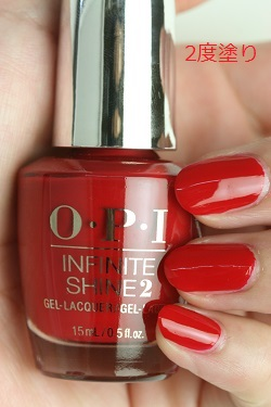 OPI INFINITE SHINE(インフィニット シャイン) IS-LN25 Big Apple Red(Creme)(ビッグ アップル レッド) opi マニキュア ネイルカラー ネイルポリッシュ セルフネイル 速乾 マット レッド 赤 真っ赤 検定カラー
