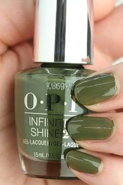 OPI INFINITE SHINE(インフィニット シャイン) IS-LW55 Suzi - The First Lady of Nails (Creme)(スージー ザ ファーストレディ オブ ネイルズ) opi カラー ポリッシュ セルフネイル 速乾 グリーン オリーブ