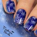 タトゥーネイルシール スライダー エアログラフィ #6 雪 結晶 冬ネイル セルネイル マニキュア 26872