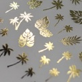 Pieadra ネイルシール ヤシの木 ゴールド