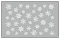 Amaily(アメイリー)ネイルシール  雪の結晶(白)【No.3-15】