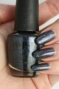 OPI(オーピーアイ) HR-J03 Coalmates(Shimmer)(コールメイツ) マニキュアopi ネイルカラー ネイルポリッシュ セルフネイル 速乾 ブラック黒色 グレー 灰色 ラメ