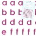 【pieadra95563】ピアドラ/アルファベット小文字ピンク(廃盤の為、在庫限り)