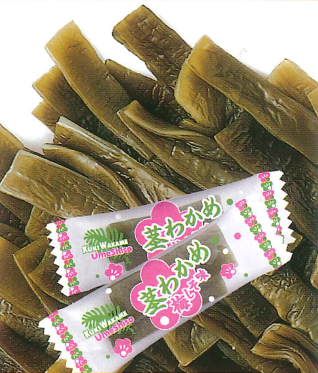 【Web限定大容量パック】茎わかめ梅しそ味(内容量:500g(個包装込み))