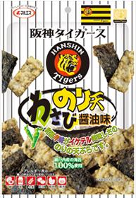 阪神タイガース のり天(わさび醤油味)(内容量:38g)